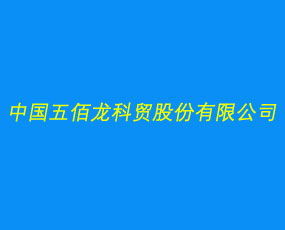 中国五佰龙科贸股份有限公司