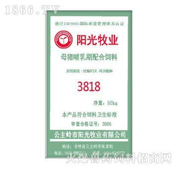 阳光-母猪哺乳期配合饲料3818
