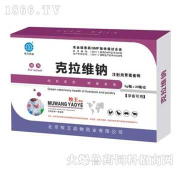 克拉维钠-治疗心包炎、气囊炎、卵黄性腹膜炎、白痢、肠炎