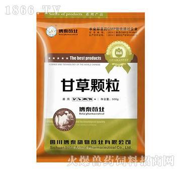 甘草颗粒-用于防治猪气喘病、传染性胸膜肺炎