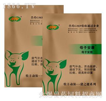 母子安康-提高受精率、减少母猪返情、预防仔猪拉痢、提高断奶重