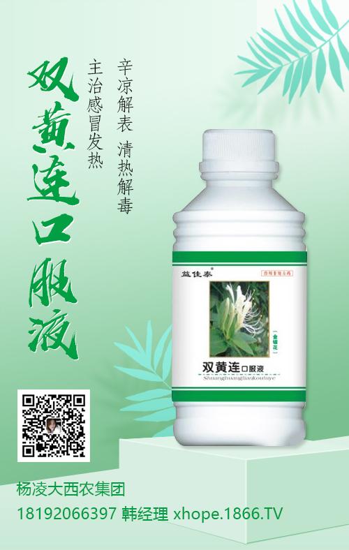 杨凌大西农集团推荐使用:双黄连口服液
