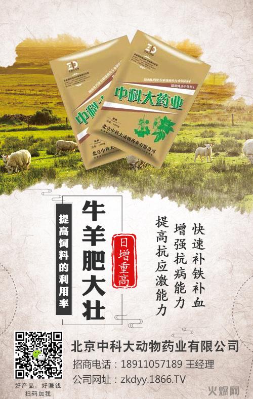 北京中科大动物药业有限公司-牛羊肥大壮