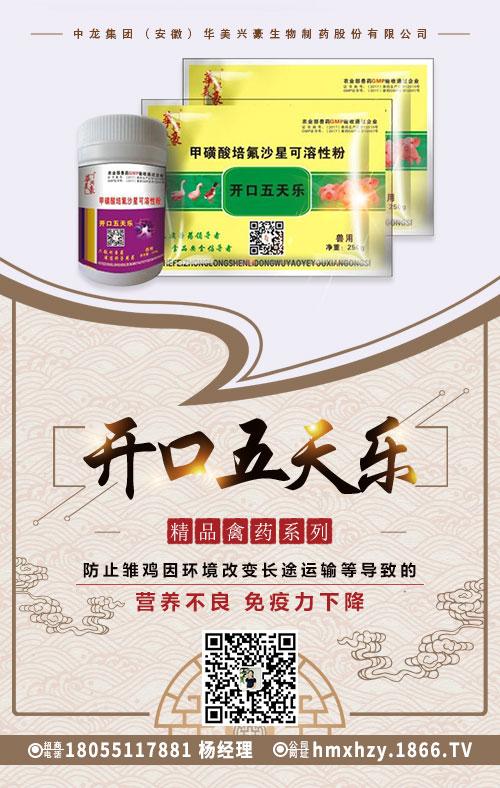 中龙集团(安徽)华美兴豪生物制药股份有限公司-开口五天乐