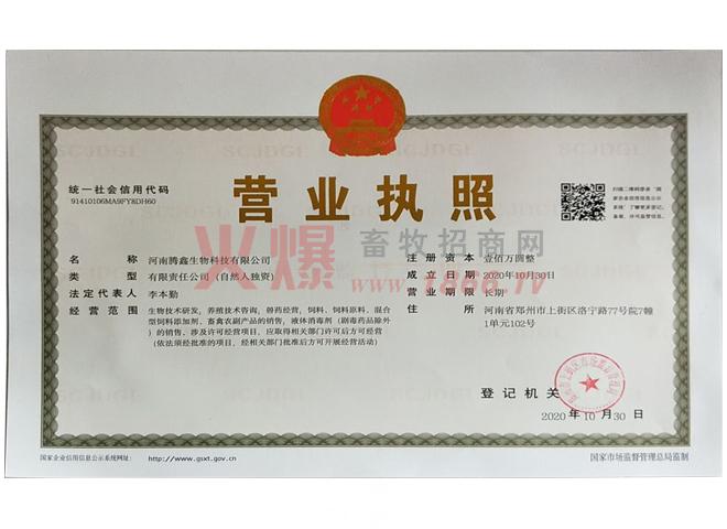 营业执照-河南腾鑫生物科技有限公司
