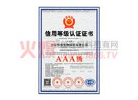 3A信用等级认证证书