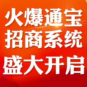 《火爆通宝招商系统》第一期2月24日盛大开启!