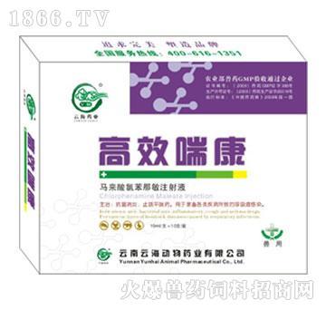 高效喘康-用于家畜各类疾病所致的呼吸道感染