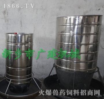 广建-不锈钢自动喂料器/不锈钢自由采食槽