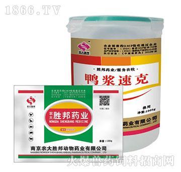 鸭浆速克-主治禽类大肠杆菌、禽伤寒、禽慢呼、鸡白痢、鼻炎、禽霍乱