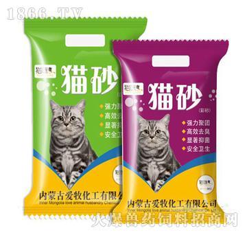 猫咪爽牌猫砂-脱臭迅速、抗菌环保、吸水性好、粉尘量小