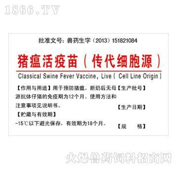 猪瘟活疫苗(传代细胞源)-预防猪瘟