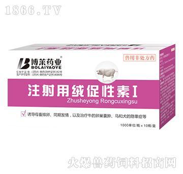 注射用绒促性素-用于诱导母畜排卵、同期发情,以及治疗牛的卵巢囊肿、马和犬的隐睾症