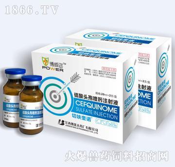 硫酸头孢喹肟注射液-用于治疗由多杀性巴氏杆菌或胸膜肺炎放线杆菌菌引起的猪呼吸道疾病