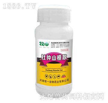 杜仲山楂散(饮水)-主治重症禽腺胃炎、肌胃炎引起的过料、消化不良