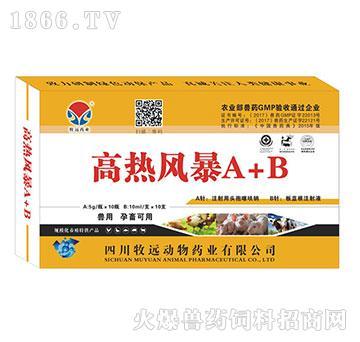 高热风暴A+B-主治畜禽全身性感染及严重感染性疾病的防治