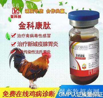 金科康肽-治疗禽病毒性感冒、治疗新城疫腺胃炎、治疗传染性法氏囊炎