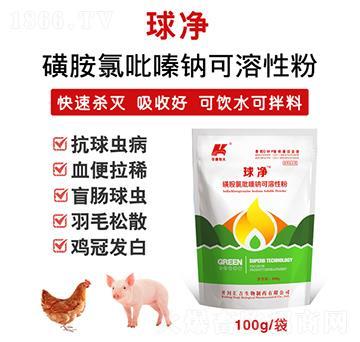 球净-磺胺氯吡嗪钠可溶性粉30%