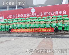 火爆网绿色宣传队伍在山东畜牧会上合影