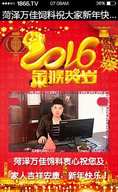 菏泽万佳饲料祝您新年快乐!